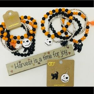 Jewelry - Halloween Stack Faceted Bead Bracelets